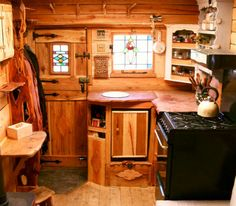 Welsh couple Bill and Becky Goddard of Rustic Campers convert old vans into comfortable living spaces lined with timber from local woodlands. Nearly every detail of each portable tiny home is crafted by Welsh artisans.