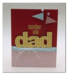#1 Dad card by Summer Fullerton - Lily Bee Design  #lilybee #lilybeedesign