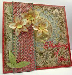 card idea, lynn die, paper flowers, lynn card, design blogs