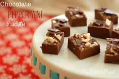 EASY Chocolate Peppermint Fudge