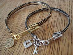 DIY zipper bracelet, how original!