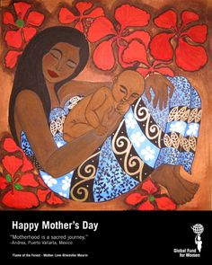 """""""Motherhood is a sacred journey."""" - Andrea, Puerto Vallarta, Mexico #MothersDay #quotes"""