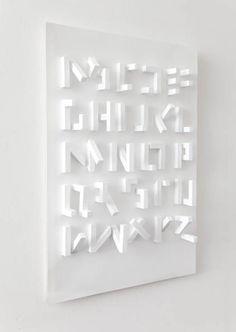 3D typeface by Stefan Abrahams