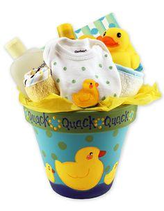 DecoArt® Baby Duck Gift Pot  #claypot #craft #baby #babyshower