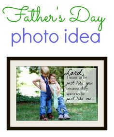 Fathers Day Photo Idea - Just Like Daddy
