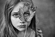 Autumn leaf portrait.  Perfection <3