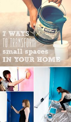 7 Ways to Transform Small Spaces in Your Home (or office!) with Paint: Check out how the staff at BuzzFeed repainted their meeting rooms in awesome bold colors to make the office burst with creative energy.