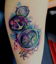 Pretty colors!! Unusual. I like this. #watercolor #tattoo
