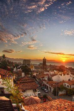 vacation spots, destinations, mexico travel, méxico, sunset, beach, places, puertovallarta, puerto vallarta