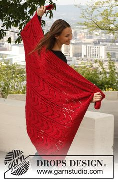 "Free pattern: Knitted DROPS blanket in ""Andes""."