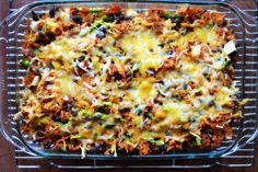 Mexican Sweet Potato Casserole | A clean, gluten free dinner idea! Huge success. I love it and Ben loved it. Might even try adding meat next time, though it didn't really need it. HUGE recipe, I made two casseroles, a spicy one for Ben and a more mild one with ranch for me.