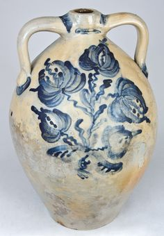 JC SMITH / MOGADORE / OHIO Stoneware Jug