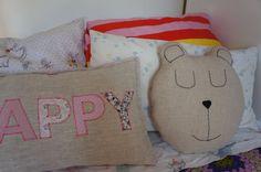 Bear Pillow Decorative Pillow Animal pillow kid by diasdelana