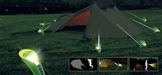Pin Light keeps your tent secure while illuminating the surrounding area.
