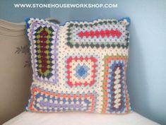 Crochet Granny Rectangle Pillow | FaveCrafts.com