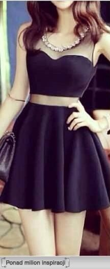 http://www.luulla.com/product/242600/charming-short-little-black-dress-with-mesh-insert-1318441