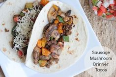 Sausage Mushroom Brinner Tacos - must try!!!