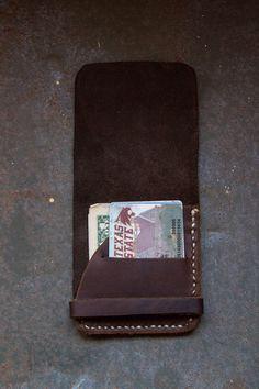 Minimalist Leather Wallet. $15.00, via Etsy.