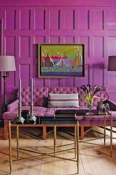 PANTONE Color of the Year 2014 - Radiant Orchid Decor {via sousstyle.com}
