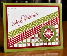Card Creations by Beth: 1st Christmas Card of 2013 - FMS94; stampin up