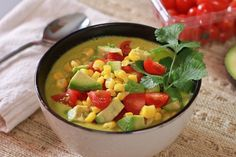 Raw Corn Chowder Blended VitaMix Recipe