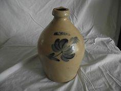 $328.05   Moyer, William Harrisburg, PA One-1 Gallon Stoneware Jug - Cobalt Blue Flower