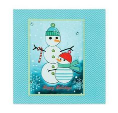 "Snowman ""Happy Holiday"" Christmas Card"
