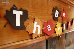 make a thankful banner for November - get the how to on NoBiggie.net