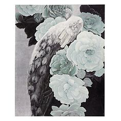 Soft, feminine and unique. Silver Leaf Peacock canvas, $499.95