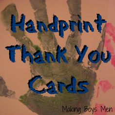 Handprint Thank You Cards