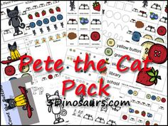 So generous!  70 free printable pages of Pete the Cat stuff for ages 2-7!  I am printing these right now for my preschoolers!