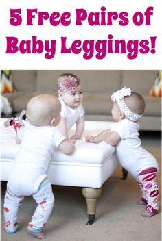 5 FREE Pairs of Baby Leggings! {just pay s/h} ~ these make a great Baby Shower gift, too!  {cuteness!!} #babies #thefrugalgirls