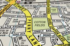 3 | Infographic Of The Day: A Map Using Only Famous Streets From Songs | Co.Design: business + innovation + design