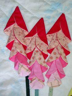 folded fabric flowers