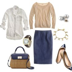 Classic Work Look, created by bluehydrangea on Polyvore
