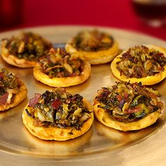 Pepperidge Farm® Puff Pastry: Caramelized Brussels Sprout & Bacon Pizzettes