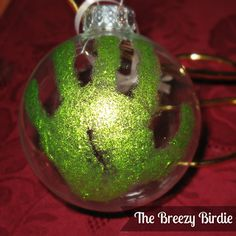 Great special  ornament for baby's first Christmas or a special gift for grandparents. The Breezy Birdie: Handprint Christmas Ornament Tutorial