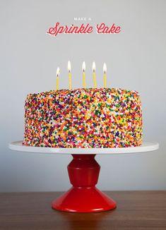cake diy, birthday parties, cakes diy, adult party cakes, food, cake desserts, sprinkl cake, birthday cakes, adult birthday cake ideas