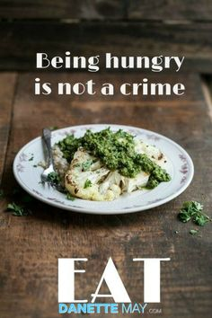 It's not about deprivation! That's why I named my book EAT, Drink and Shrink.  Now, what's for lunch?  http://danettemay.com/
