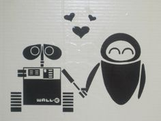 Disney Wall-E and Eve Funny Vinyl Decal Car Laptop Wall Window on Etsy, $5.00