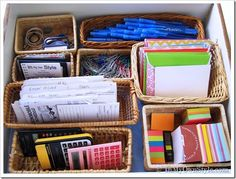 baskets to organize drawers