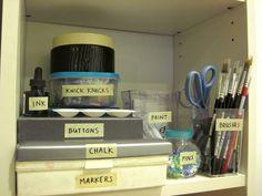 How to Organize Craft Supplies -- via wikiHow.com