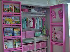 Bookshelves on inside closet doors