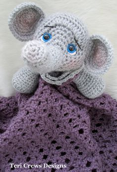 Elephant Huggy Blanket Crochet Pattern by Teri Crews PDF Format Instant Download via Etsy