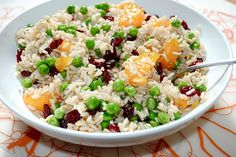 Leftover brown rice salad