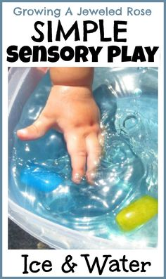 Simple Sensory Play with Ice and Water- perfect for babies and toddlers