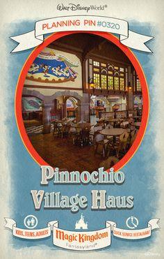 Walt Disney World Planning Pins: Pinnochio Village Haus