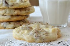 White Chocolate Chip Shortbread Cookies