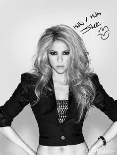 Shakira B&W