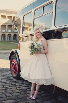 cute 50's style wedding